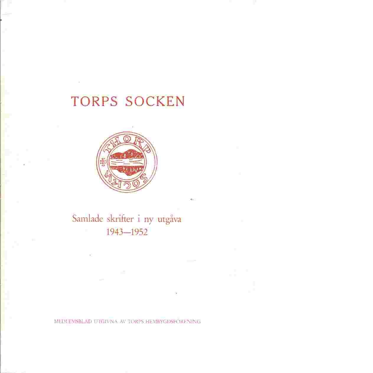 Torps socken årsbok nr 6 1951 - Medlemsblad utgivna av Torps hembygdsförening