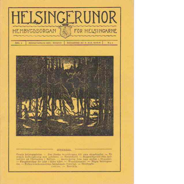 Helsingerunor 1923 nr 3 - Red.
