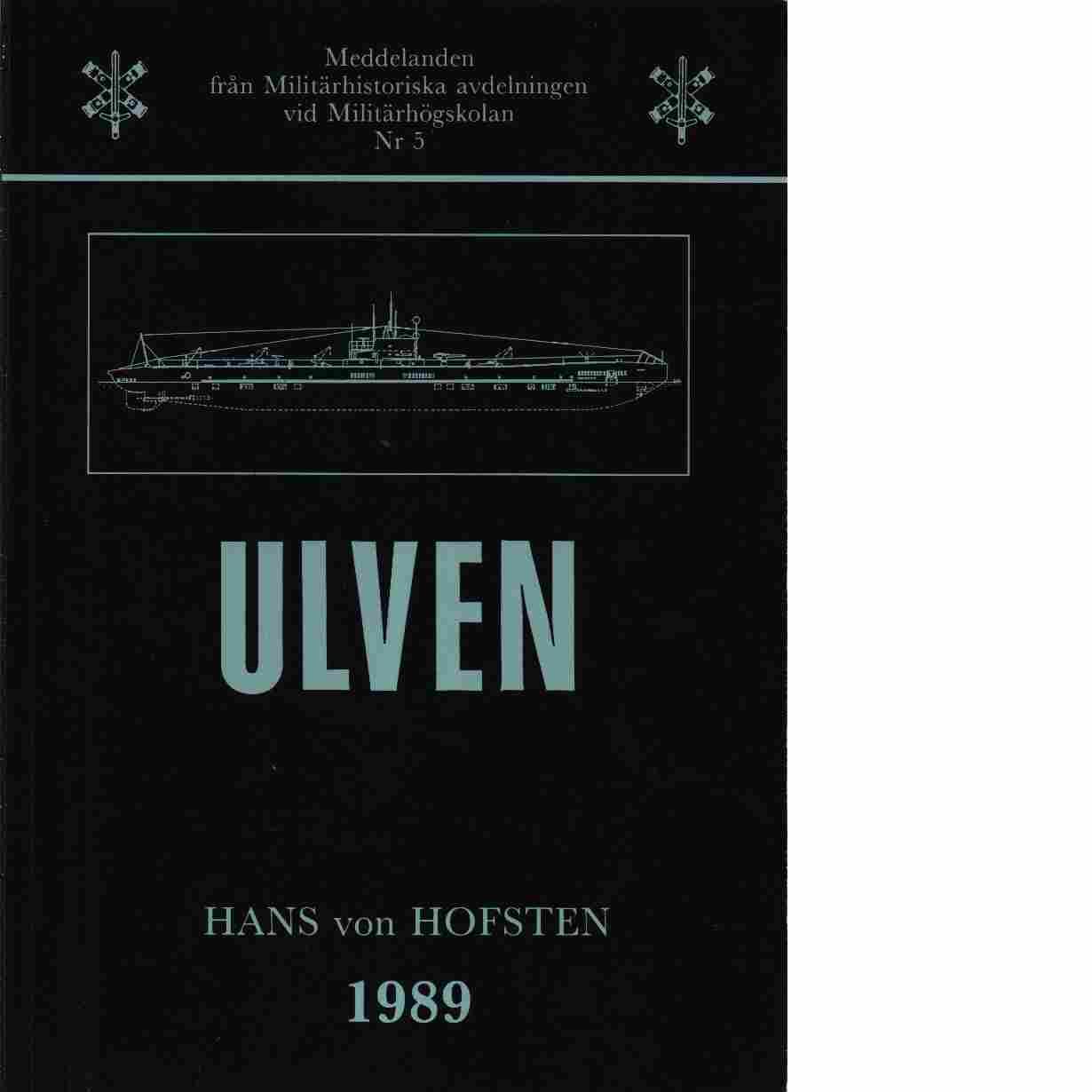Ulven - Hofsten,von  Hans