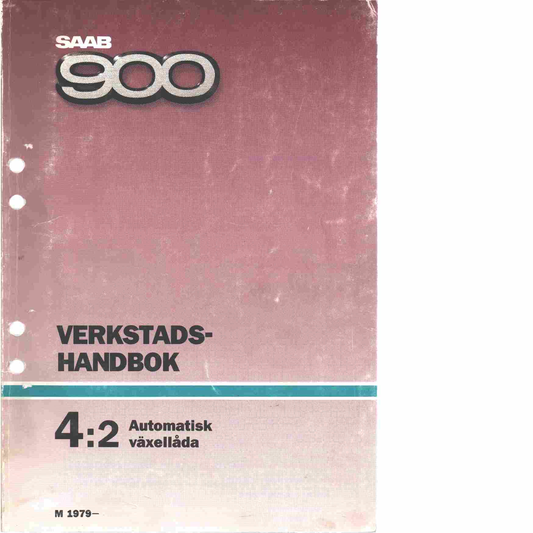 Saab 900 verkstadshandbok 4:2 automatisk växellåda 1979 - 1985 - Red.