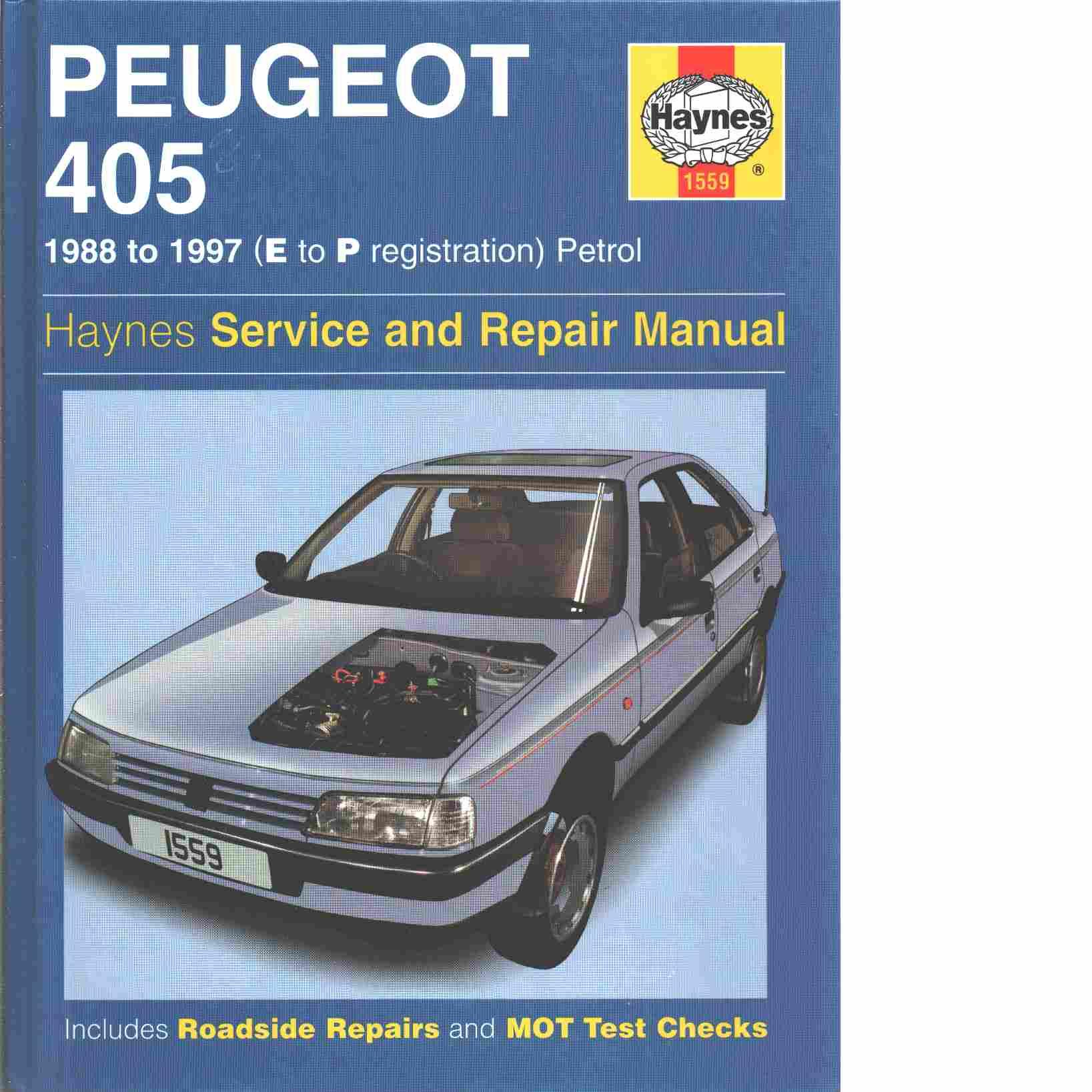 peugeot 405 petrol service repair manual rendle steve. Black Bedroom Furniture Sets. Home Design Ideas