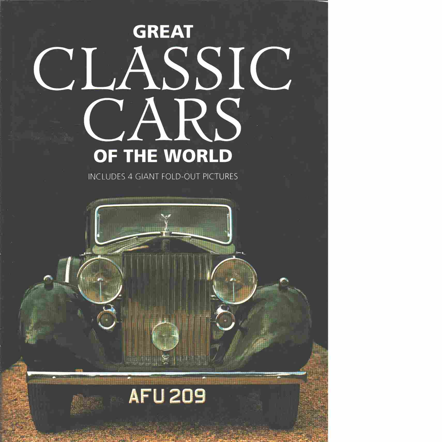Great classic cars of the world - Isenberg, Hans-Georg