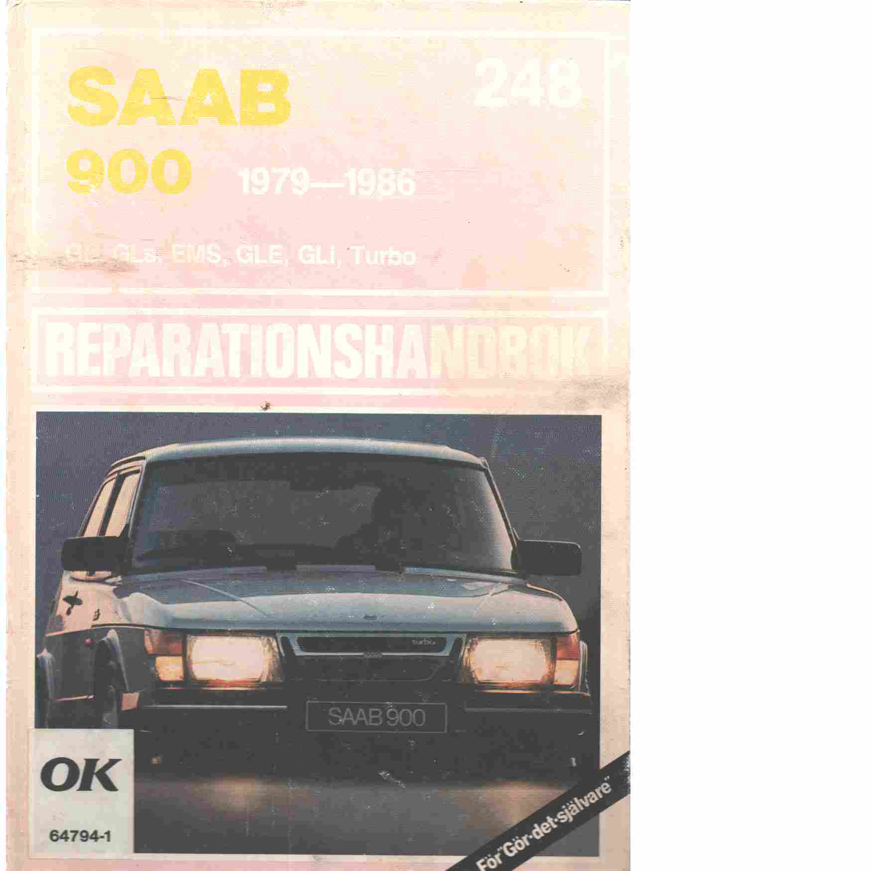 Saab 900 reparationshandbok 1979 - 1986 - Red.