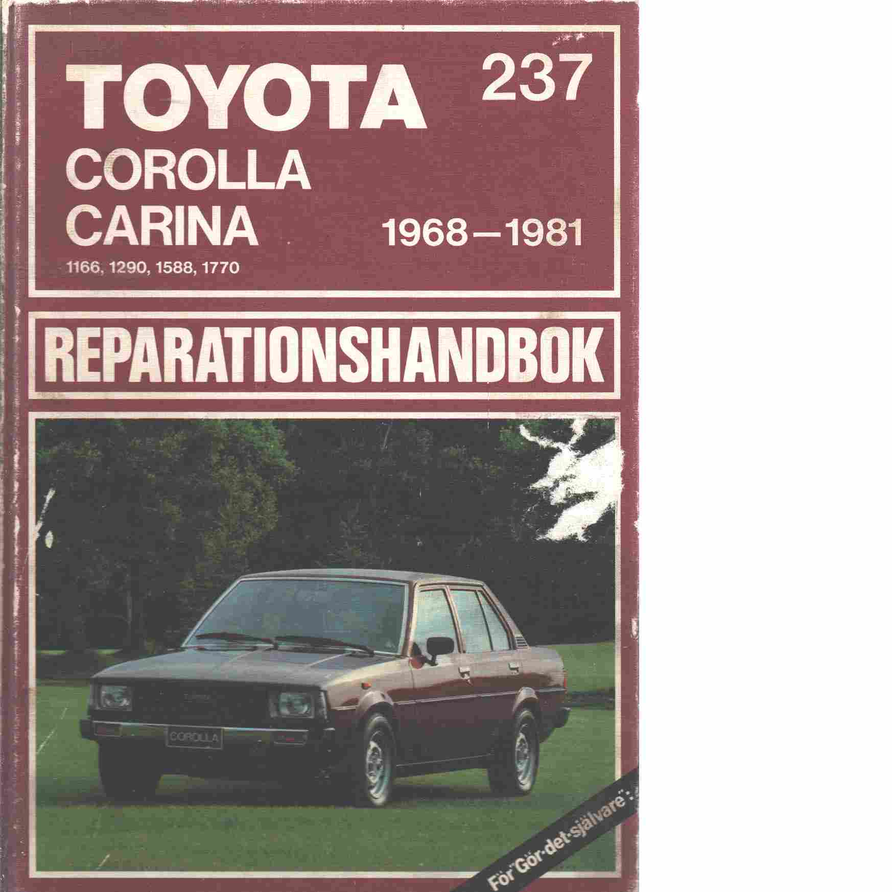 Toyota Corolla, Carina, 1166, 1290, 1588, 1770, 1968-1981 - Red.