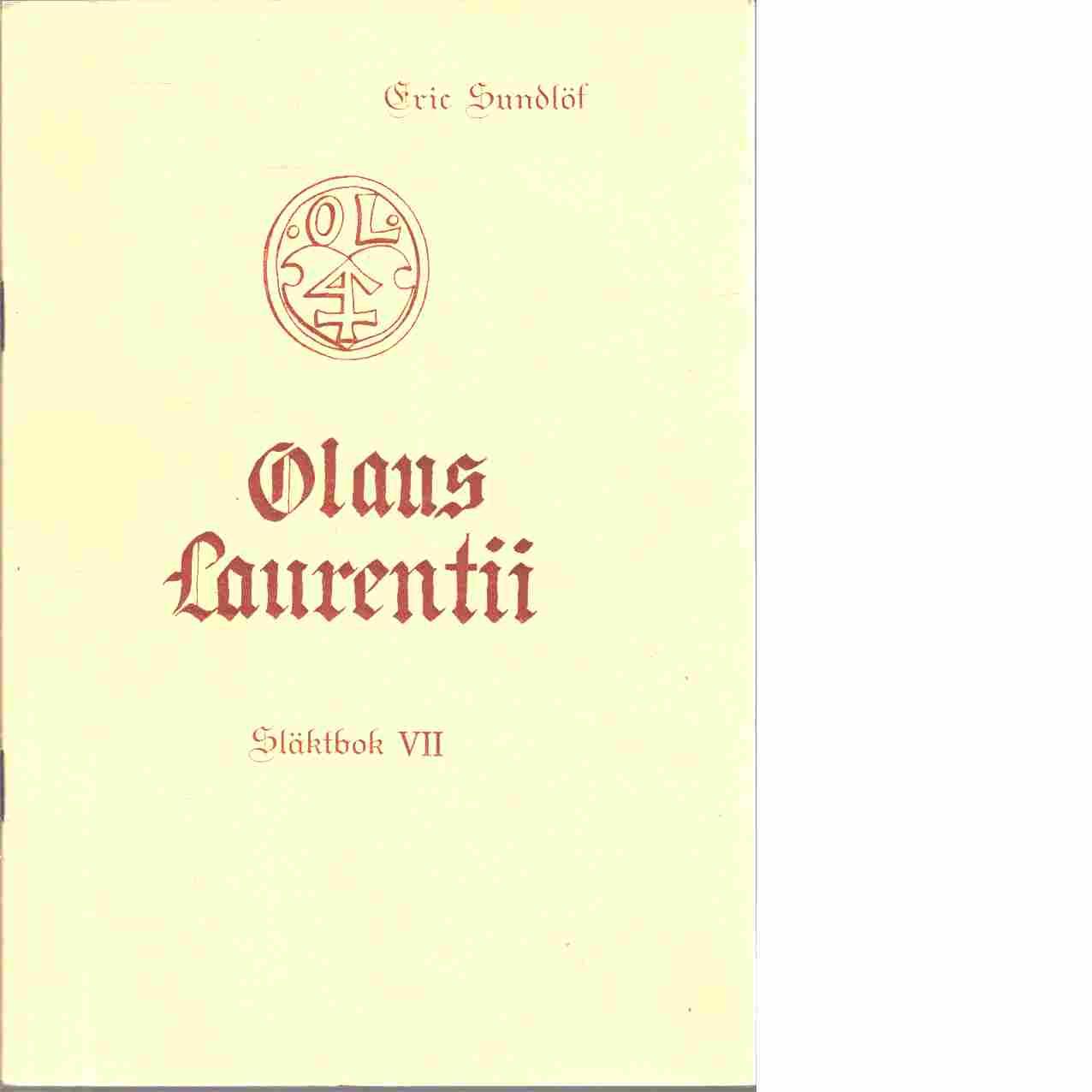 Olaus Laurentii : släktbok. 7 - Sundlöf, Eric