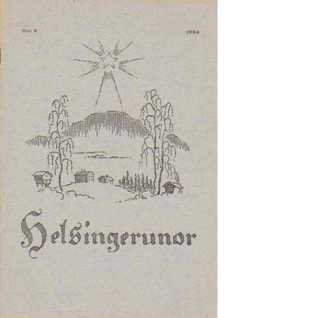 Helsingerunor 1924 nr 4 - Red.