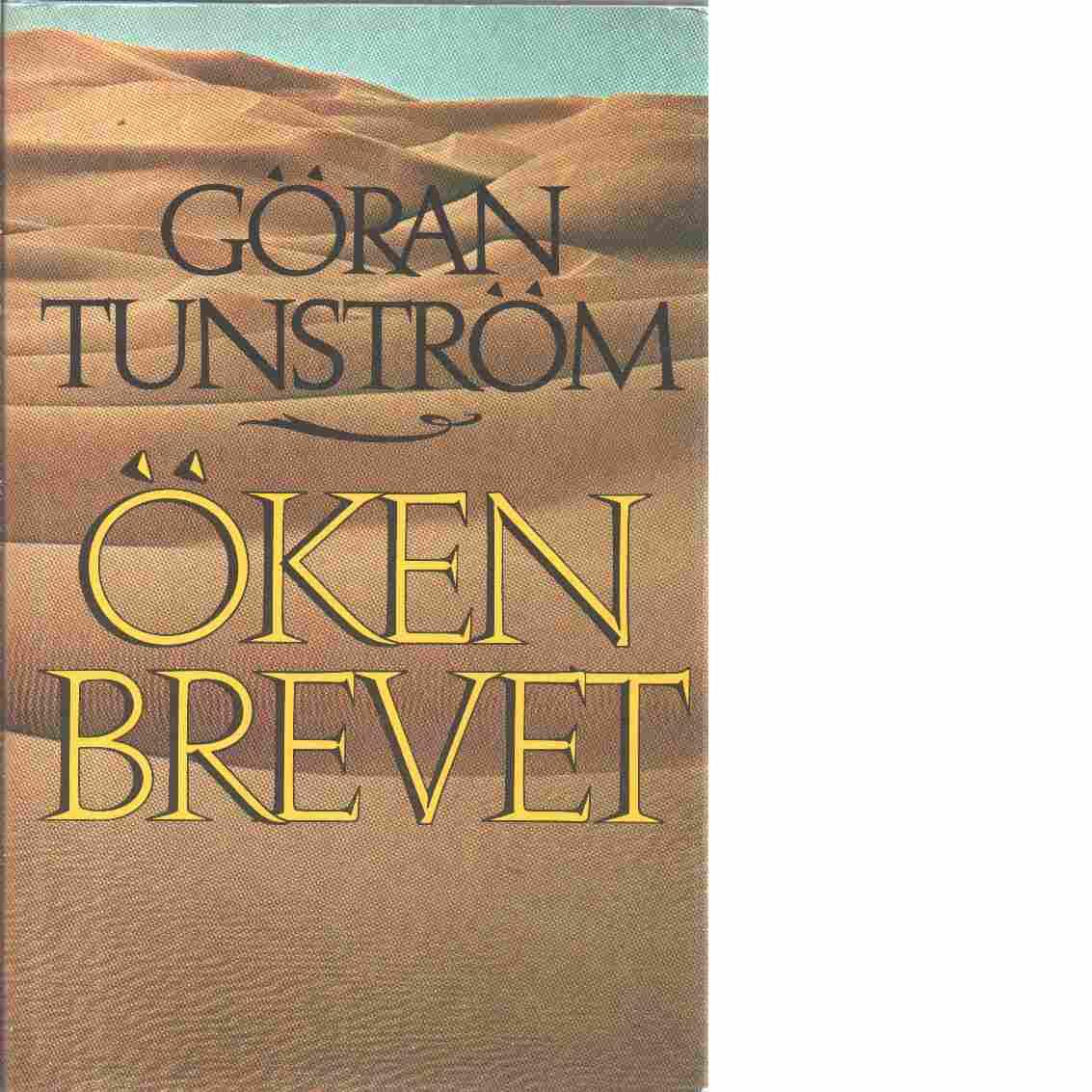 Ökenbrevet - Tunström, Göran