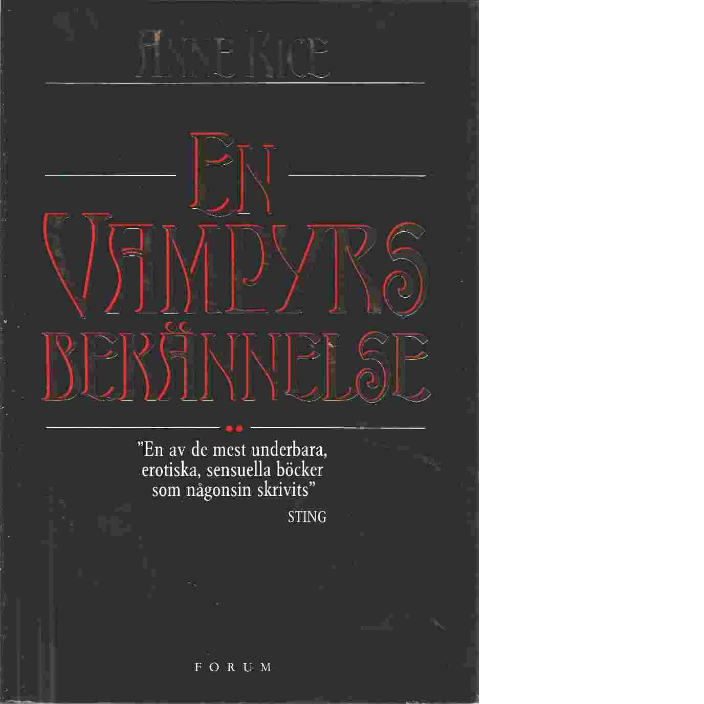 En vampyrs bekännelse - Rice, Anne