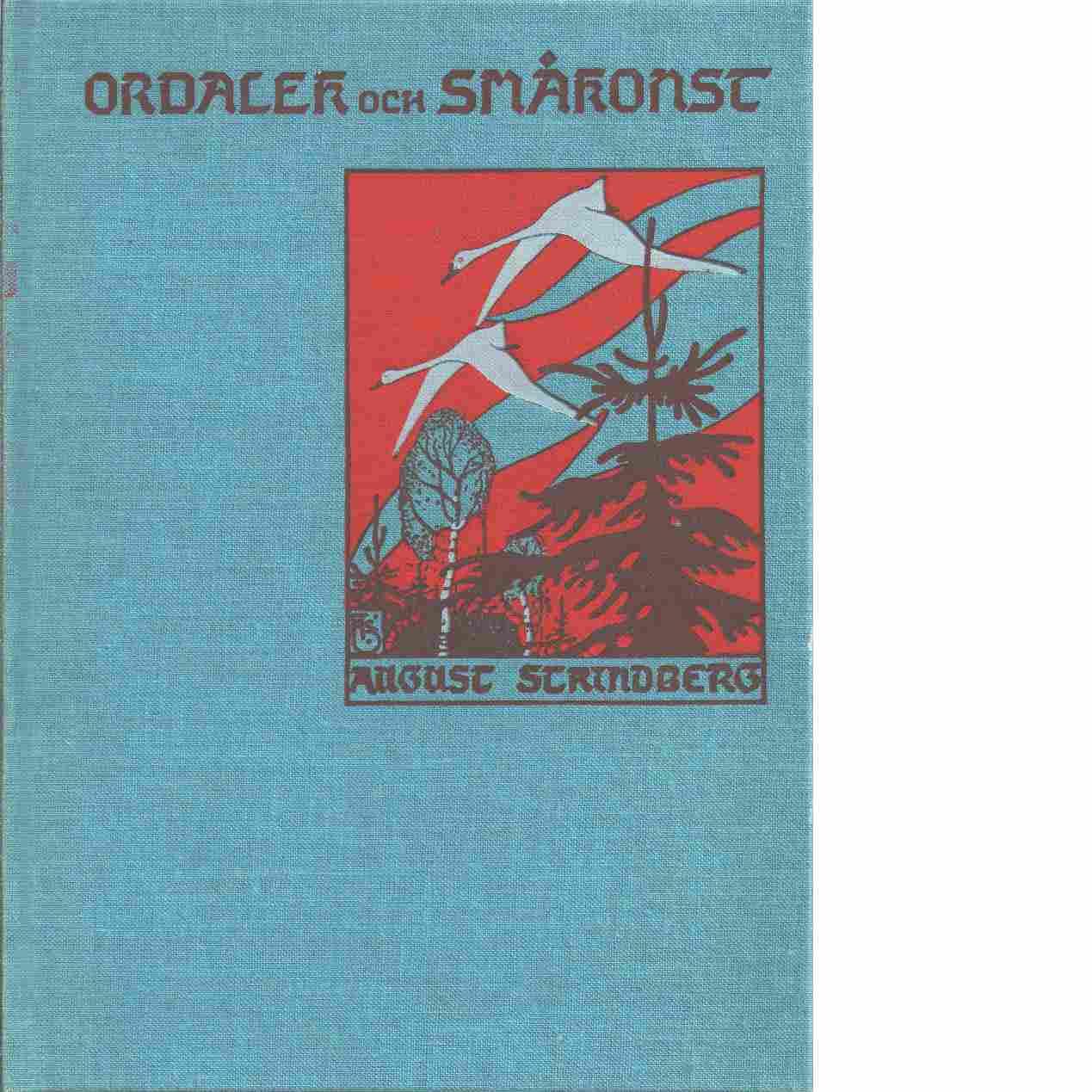 Ordalek och småkonst - Strindberg, August